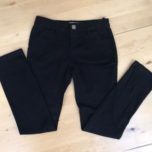 Old Navy girls black chinos pants uniform pants